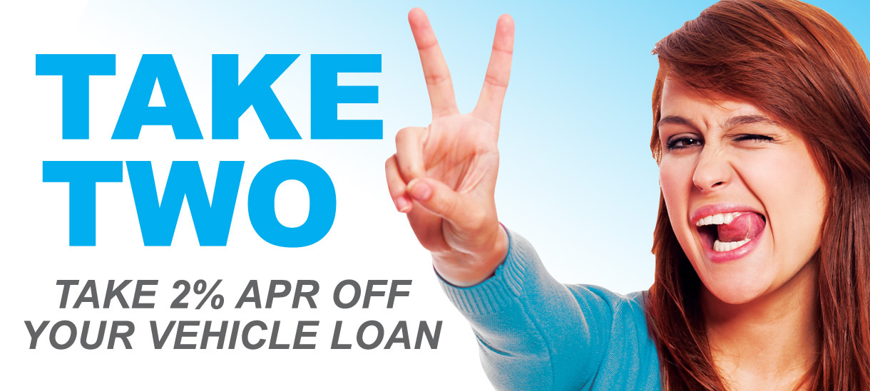 Take 2% off your Vehicle Loan