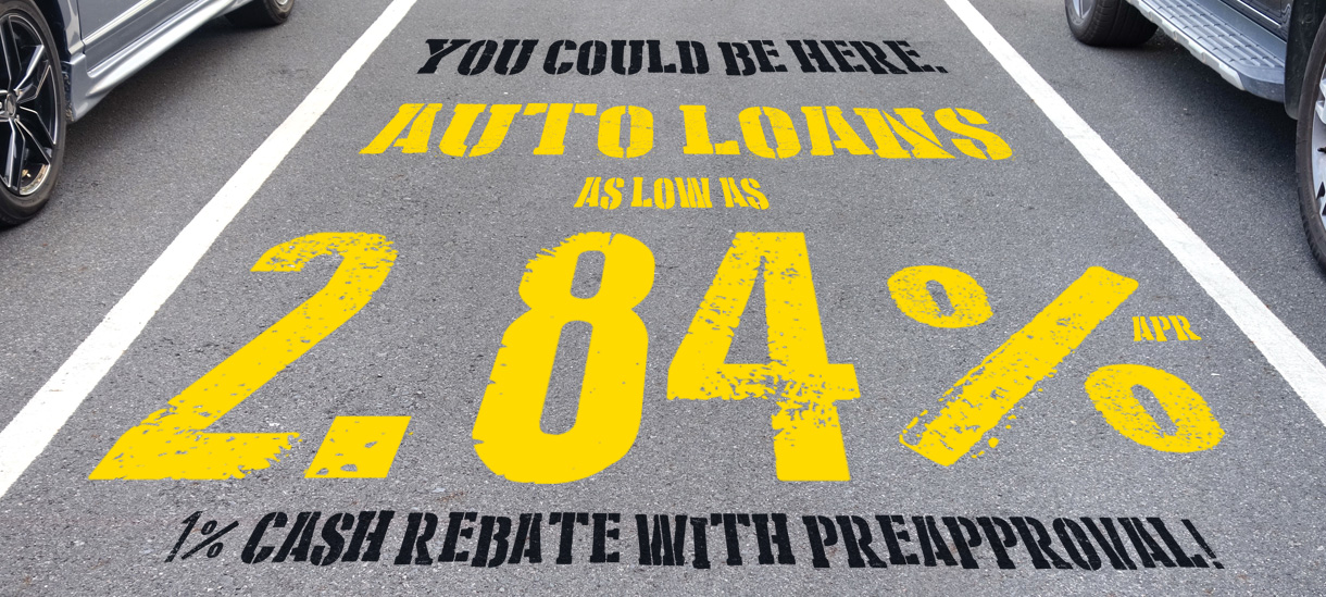 Auto Loans as low as 2.74%